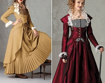 Diy Sewing Pattern-Simplicity 2172-Steampunk Coat, Corset and Skirt Size 6-12