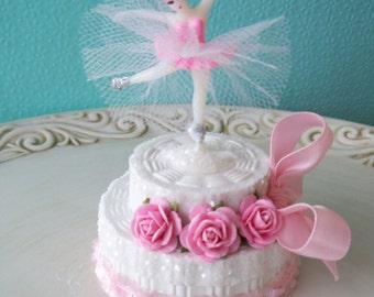 Ballerina Birthday Cake Trinket Box for Ballet party TVAT Birthday Party Birthday Decoration