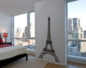 Eiffel Tower Wall Decal 6 Feet Tall Highly Detailed Paris Wall Decor for your Home Vinyl wall Art