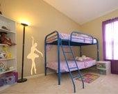 Kids Wall Decal Ballerina Girls Room Decor Vinyl Wall Art Stickers