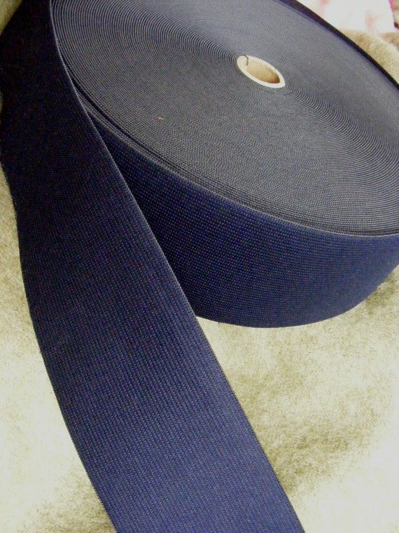 Navy blue elastic, 3 inches extra wide