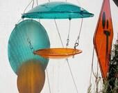Bird Feeder, Eco Friendly upcycle Repurposed traffic lights blue green yellow