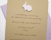 Girl Baby Bunny Baby Shower Invitation Girl - Lilac #3