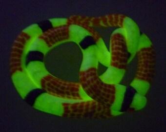 Valentine Gift GLOW GLOW GLOW Snake pendant Pumpkin Orange and Black Halloween Costume Jewelry