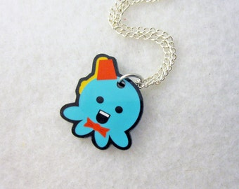 Fez and a Bowtie Doctor Who Parody Octopus Pendant