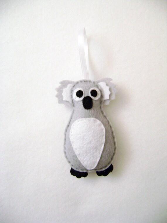 Koala Ornament, Christmas Ornament, Christmas Decoration, Emmett the Koala, Zoo Animal, Gifts for Kids, Stocking Stuffer
