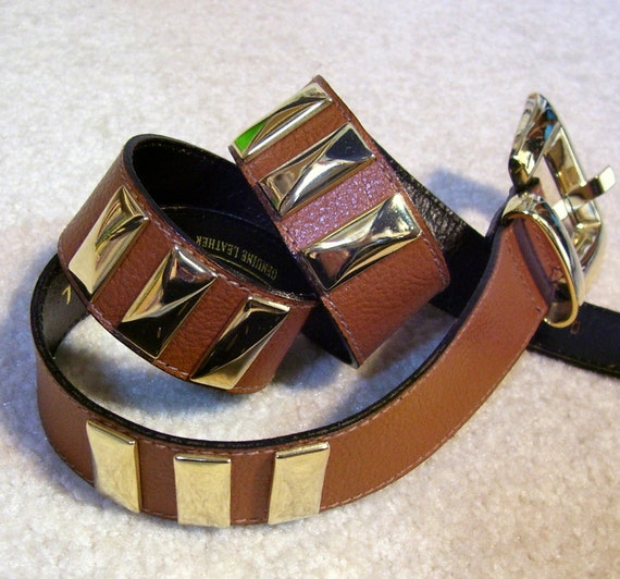 The Limited Vintage Leather Belt Chocolate Color Unisex Small Medium Vintage 1980s 1990s