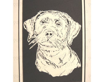 Labrador Retriever Papercutting- Handcut Original