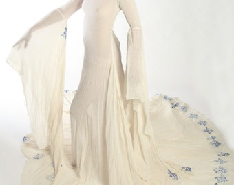 CUSTOM ORDER ONLY Romantic Bridal Gown Medieval Fantasy Couture Reenactment Fairy Wedding Dress
