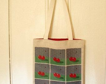 Organic Cotton & Hemp Tote Bag (cherry)