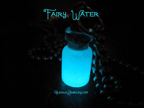 Fairy Water Glow Potion Bottle Necklace