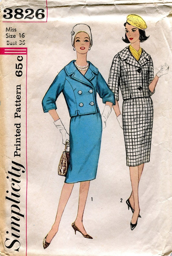 Five Vintage 1960s Sewing Patterns, Simplicity 3826, 6091, and 7289, McCalls 9754, Butterick 3978, Size 16, Bust 36