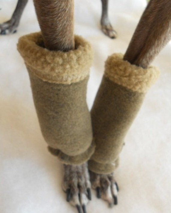 2 Shearling Fleece Leg Warmers for Small Dogs-5 colors all sizes