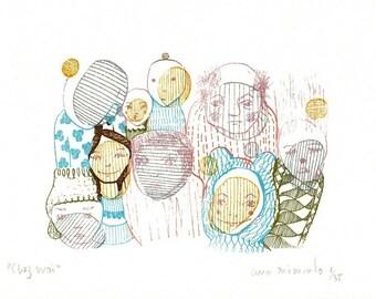 Chez Moi - screenprint art