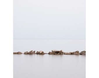 Zen Wall Art - Beach Art Prints - Minimal Art - Landscape Photography - Seascape - Minimalist Decor - Spa Wall Art - Living Room Art