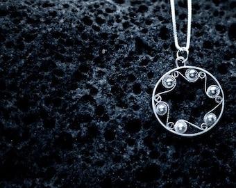 The Sea - Icelandic filigree pendant