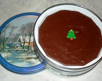 1 lb of Fudge in Holiday Tin*