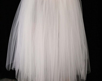White Floor length Adult tutu skirt bridal petticoat formal dance wedding bride prom dress up - You Choose Size - Sisters of the Moon