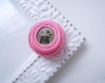 DMC Perle Cotton Thread Size 8 Pale Geranium Pink 957