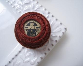 DMC Perle Cotton Thread Size 8 Very Dark Mahogany 300