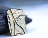 ebb & flow, fine silver pendant, pmc, precious metal clay