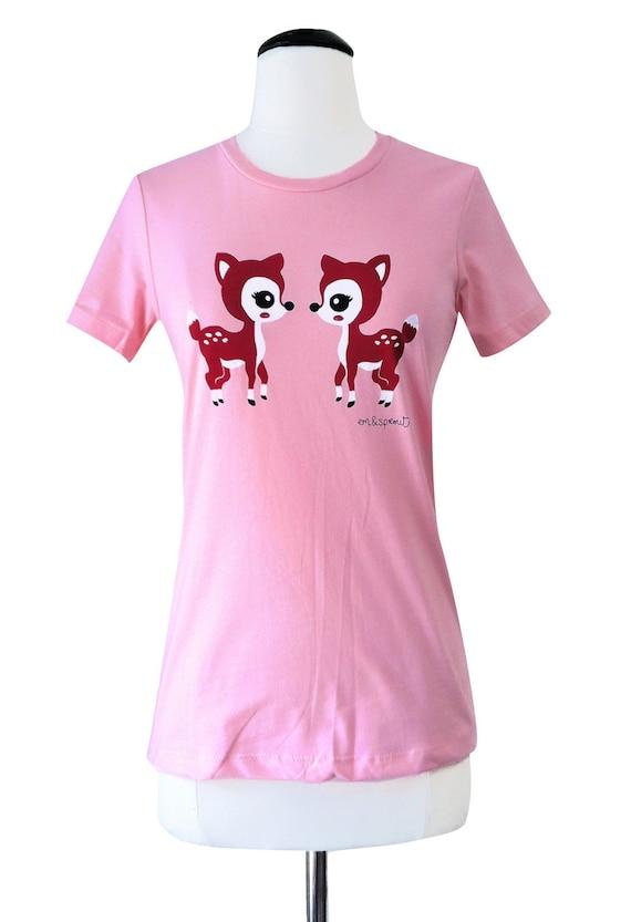 Deer Shirt - Kawaii Fawn T-Shirt - Size Medium - CLEARANCE