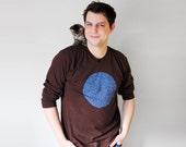 Animal Collective Nouns Mens Long Sleeve Tshirt, Brown & Navy Blue / S - XXL t shirt,  husband gift t-shirt mens, longsleeved gift for dad