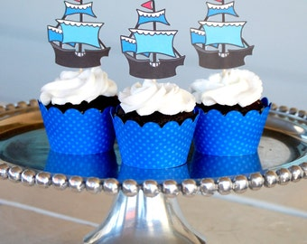 The PIRATE Collection - Custom Cupcake Toppers and Their Wraps from Mary Had a Little Party