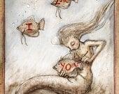 Mermaid Valentine, Greeting Card by Renae Taylor