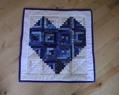 Quilted Blue Heart Wallhanging
