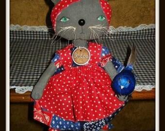 "Rag Doll Cat, ""Cat's Rule DOLLS Pattern"" #159, 2 Sizes, Primitive Pattern, Folk Art, Raggedydays Original Pattern"