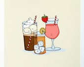 Anyone for a Cool Drink- Signed Archival Print of Original Illustration