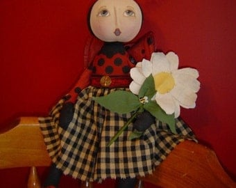 Pattern epattern version Primitive Folk Art Doll Pattern Lady Bug Raggedy Rhondas MHA