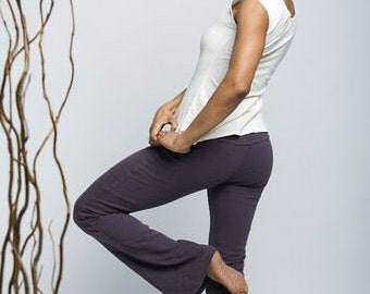 Dance Pants // Yoga Pants // Organic Cotton & Hemp w/lycra // Eco Fashion