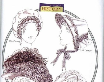 Hat Patterns Historic Titanic Renaissance Princess Maid Butterick 4210 Elizabethan 18th Century