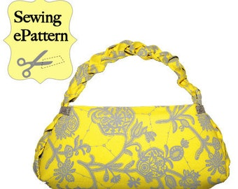 2- PDF Sewing Pattern, Sew Spoiled Braid Bag and Pincushion