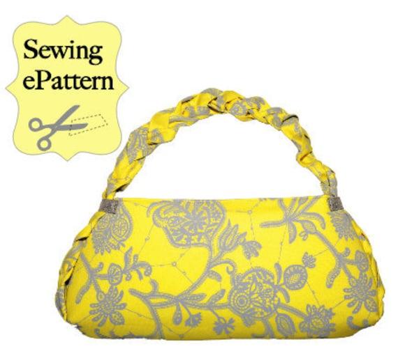 2- PDF Sewing Pattern, Sew Spoiled Braid Bag and Pincushion
