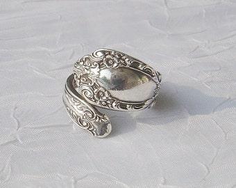 Prince Eugene Vintage Alvin Sterling Silver Spoon Ring    dmfsparkles