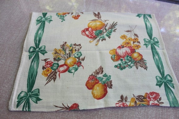 Vintage Fall Harvest  Dish Towel