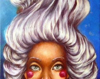 Original Acrylic Painting 'Underwater Head'