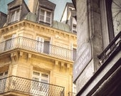 Paris photography, Paris art print, street Paris photography, Paris decor, Paris photo,  Yellow Wall Art, yellow and gray