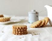 Olive Oil Fennel Shortbread Cookies, Tea Cookies