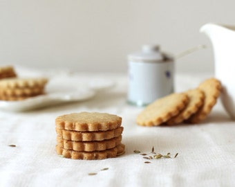 Olive Oil Shortbread Cookies, Tea Cookies, Gourmet shortbread cookies