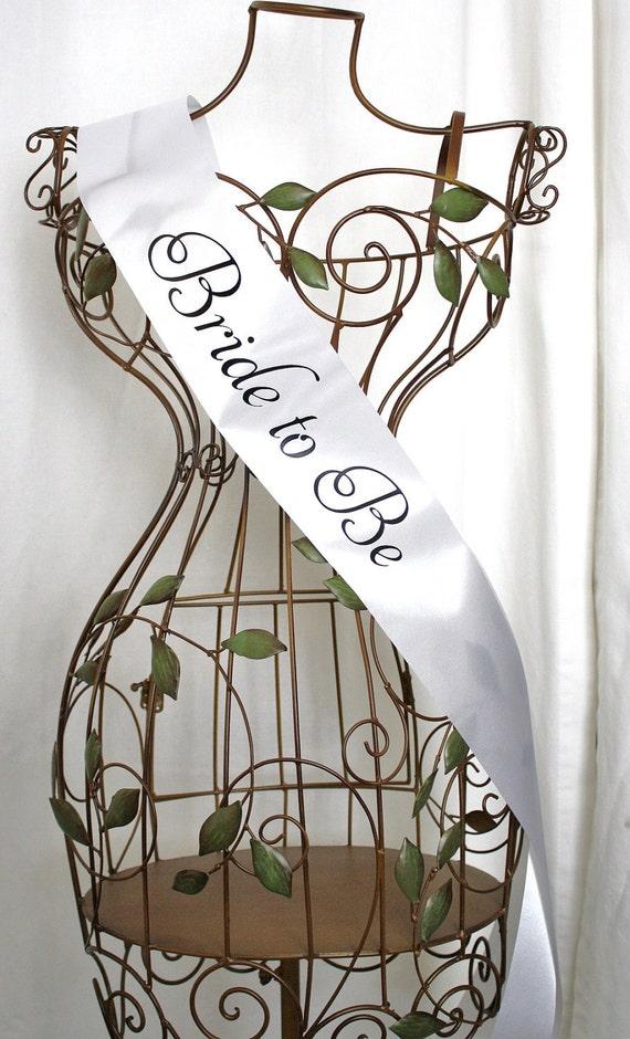 Elegant Bride to Be Sash - Choose Your Colors