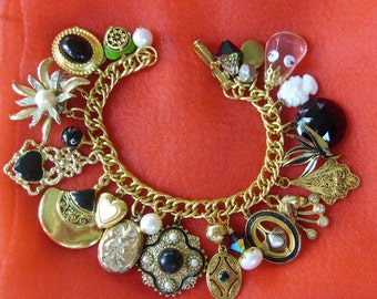 Serious Vintage Charm Bracelet with a Hint of Humor