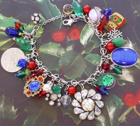 New Vintage Christmas Charm Bracelet