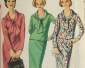 Vintage 1964 Bow Tie Front  Dress Sewing Pattern 5642 Simpllicity