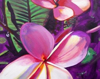 Single Plumeria Painting