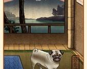 Pug Japanese Styled Print