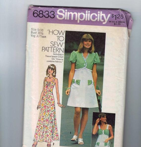 1970s Vintage Dance Pattern Simplicity - 83.2KB